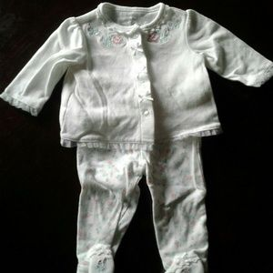 Little Me girls 6 month 2 piece outfit set with Em
